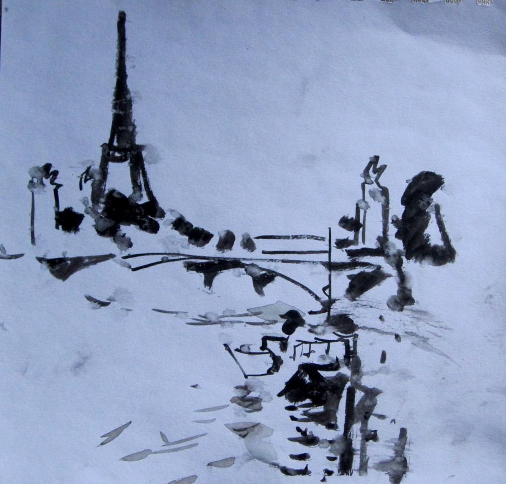 paris     l`hiver   2013г      10х10